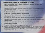 nutrition hydration standard of care