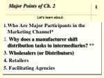 major points of ch 2