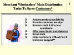 merchant wholesalers main distribution tasks to serve customers