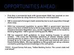 opportunities ahead