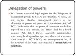 delegation of powers