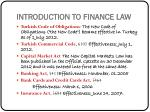 introduction to finance law