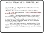 law no 2499 capital market law