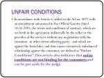 unfair conditions
