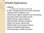 ehealth applications