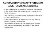 automated pharmacy systems in long term care facilities
