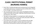 class i institutional permit nursing homes