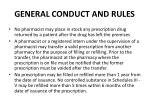 general conduct and rules1