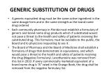 generic substitution of drugs