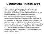 institutional pharmacies
