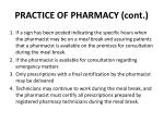 practice of pharmacy cont1