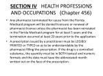 section iv health professions and occupations chapter 4561