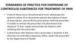standards of practice for dispensine of controlled substances for treatment of pain1