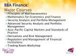 bba finance major courses