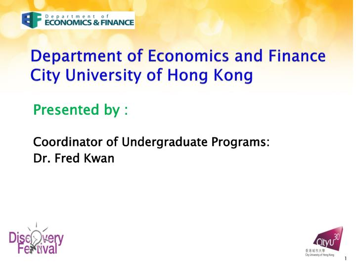 department of economics and finance city university of hong kong n.