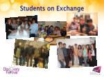 students on exchange