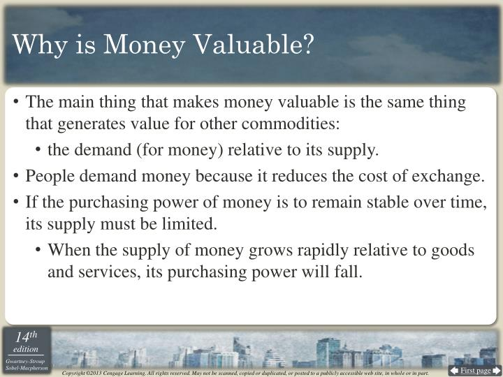 Why is Money Valuable?