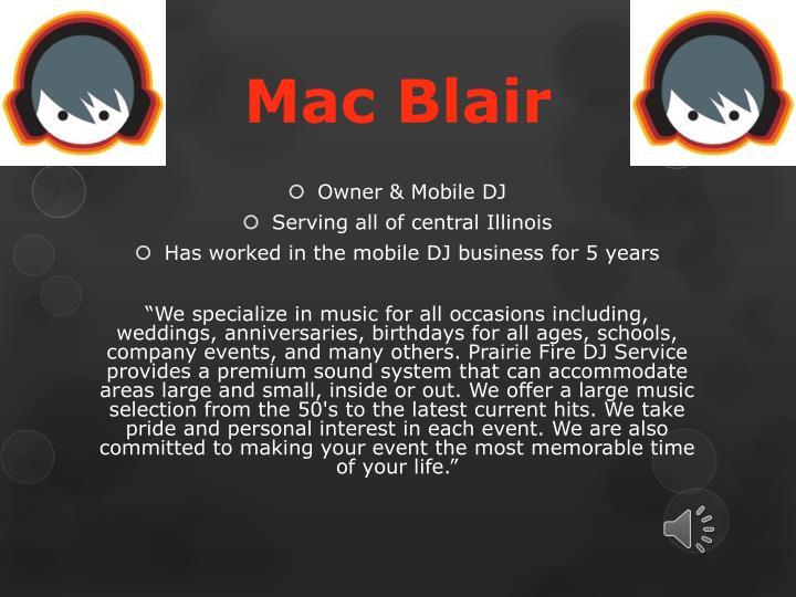 Mac blair