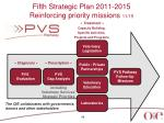 fifth strategic plan 2011 2015 reinforcing priority missions 11 15