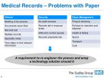medical records problems with paper