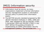 ims3 information security