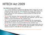 hitech act 20091