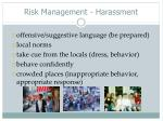 risk management harassment