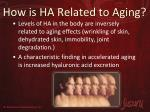 how is ha related to aging1