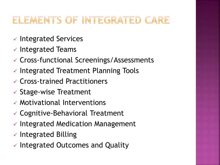 Elements of Integrated Care