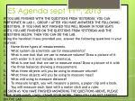 es agenda sept 11 th 2013