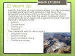es warm up67