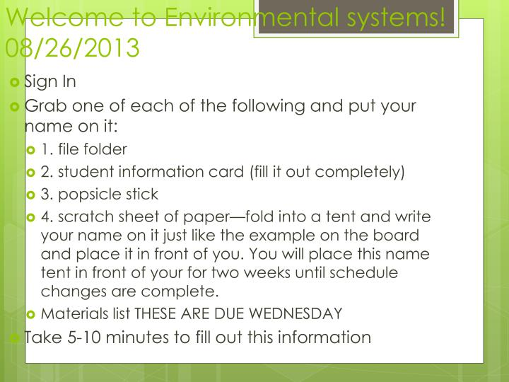 welcome to environmental systems 08 26 2013 n.