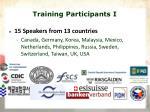 training participants i