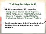 training participants ii