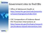 government sites to find ebis