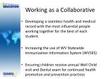 working as a collaborative