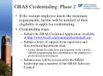 gbas credentialing phase 2