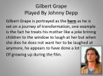 gilbert grape played by johnny depp