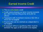 earned income credit1