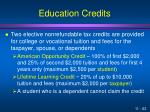 education credits