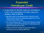 expanded homebuyer credit