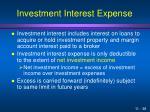 investment interest expense