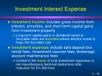 investment interest expense1