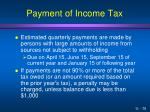 payment of income tax