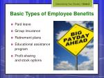 basic types of employee benefits