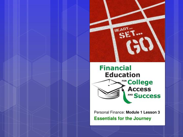 personal finance module 1 lesson 3 essentials for the journey n.