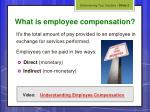 what is employee compensation