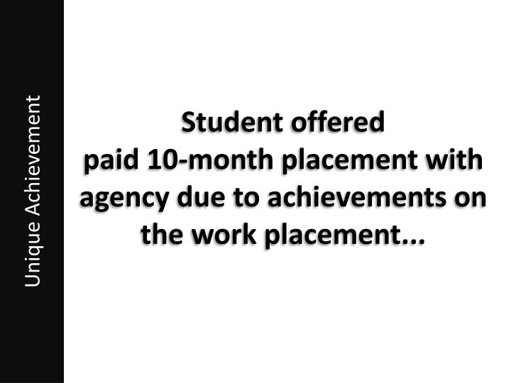 Student offered