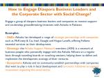 how to engage diaspora business leaders and the corporate sector with social change