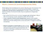 women s initiative for social entrepreneurship wise